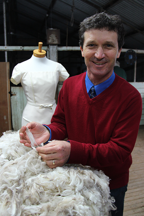 Albury woolgrower Leon Martin has value added to his non-mulesed Charmac Merino fleece by developing Wool Charne.